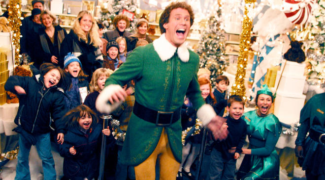 Will Ferrell in the kids Christmas movie Elf