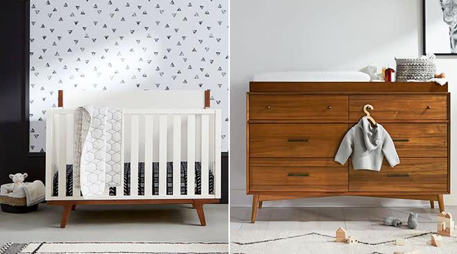 West Elm launches children's nursery furniture line.