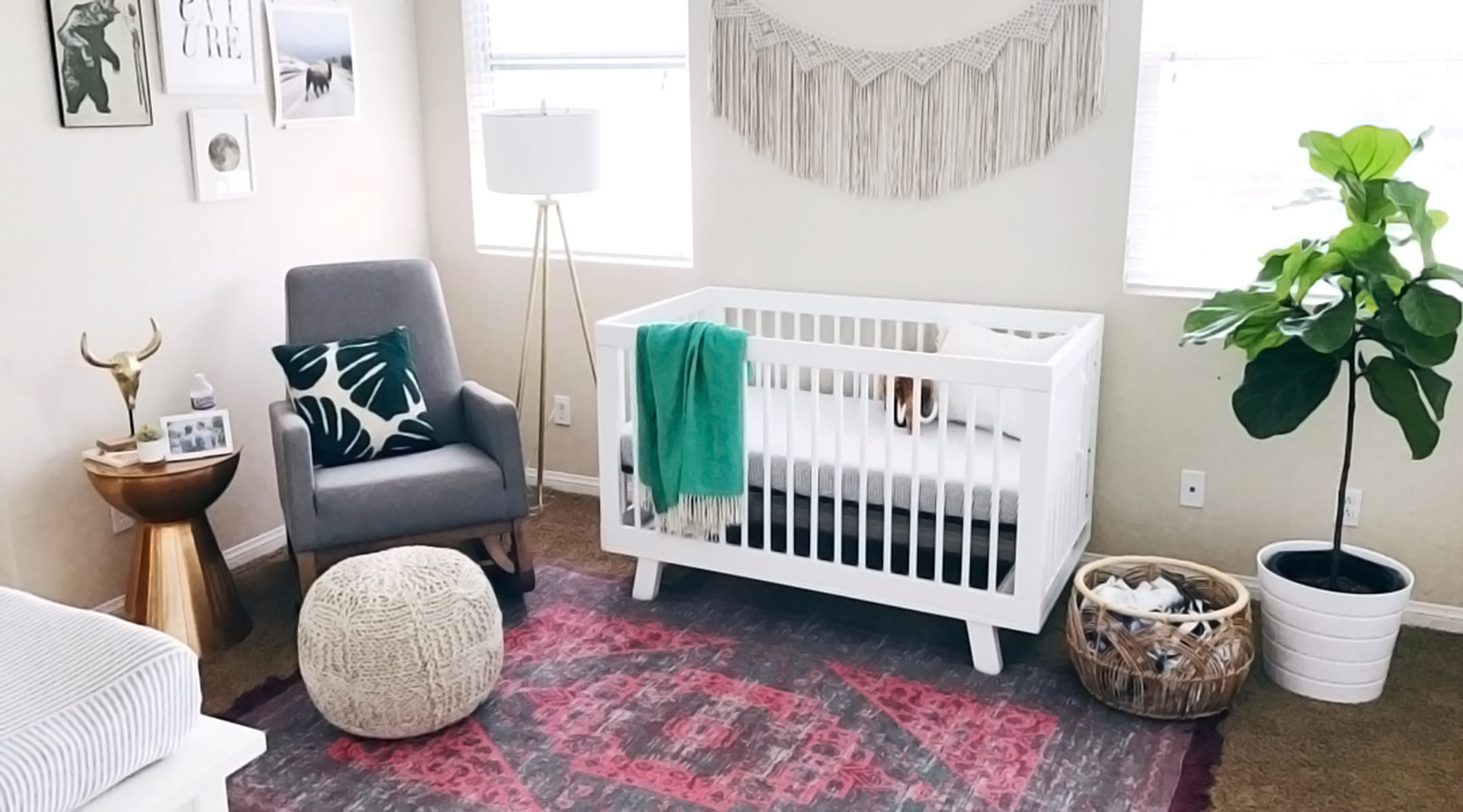 Modern Decorated Nursery With Crib