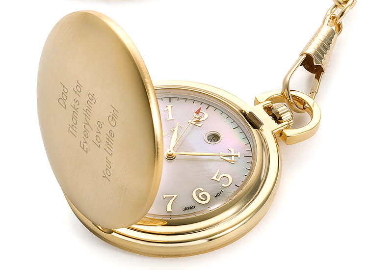 Fathers day 2018 gift guide things remembered gold pocket watch negle Gallery