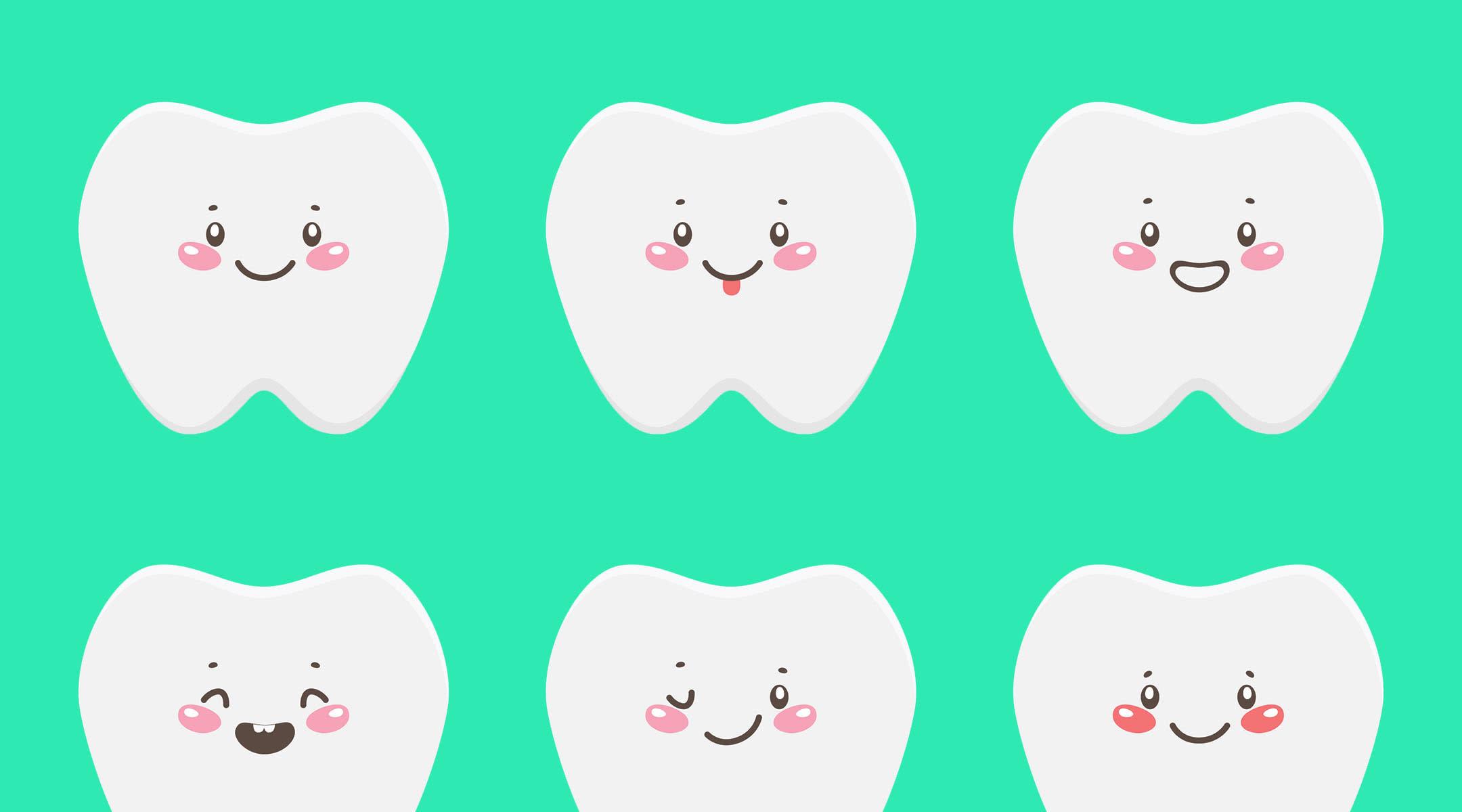 Fun illustration baby teeth