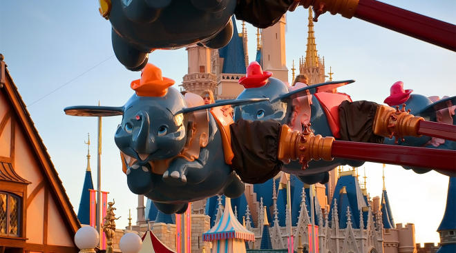 dumbo ride at disney world, great ride for kids who are scared of rides