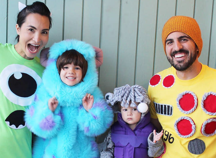 family halloween costume monsters inc
