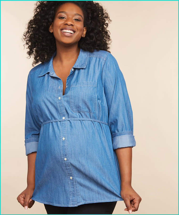 3d6fb26a930 trendy-maternity-clothes-destination-chambray-shirt-plus-size