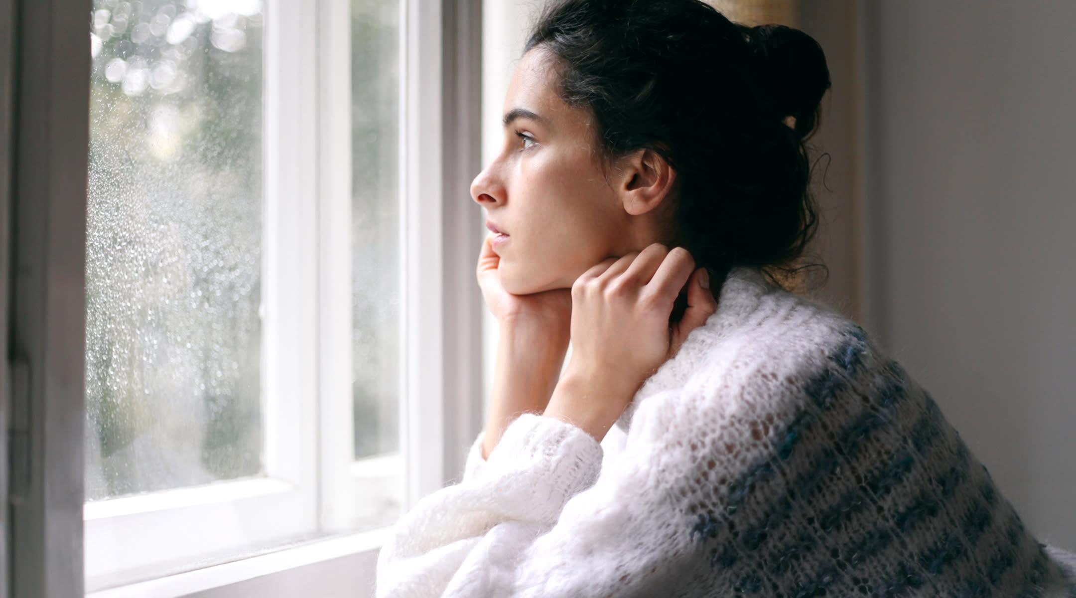 Woman with postpartum depression