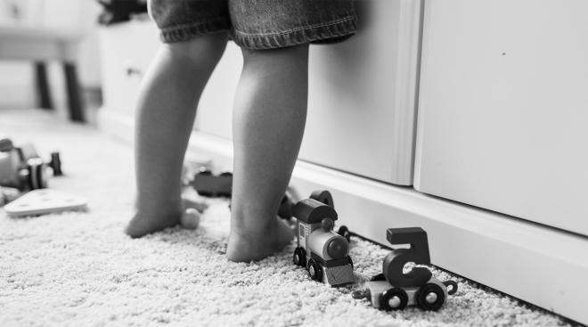 image of toddler's legs in preschool