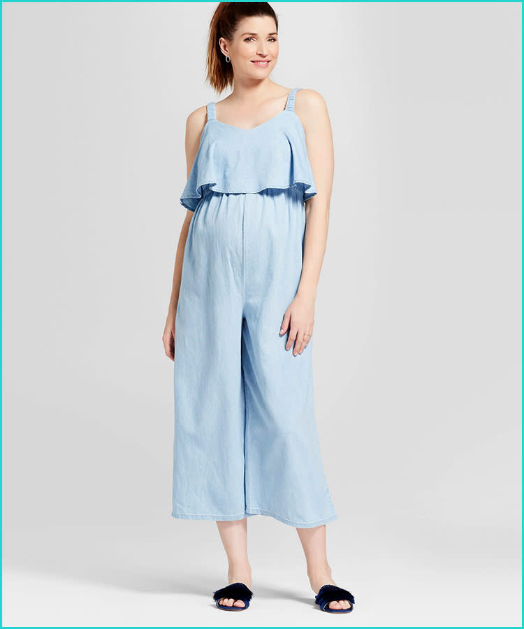 7e4bbc37565e trendy-maternity-clothes-ingrid-isabel-chambray-jumpsuit