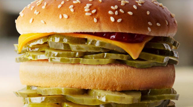 mcdonalds launches mcpickle burger as an april's fools joke.