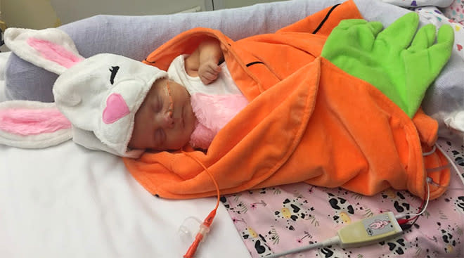 preemie babies in hospital are dressed up in cute costumes for halloween