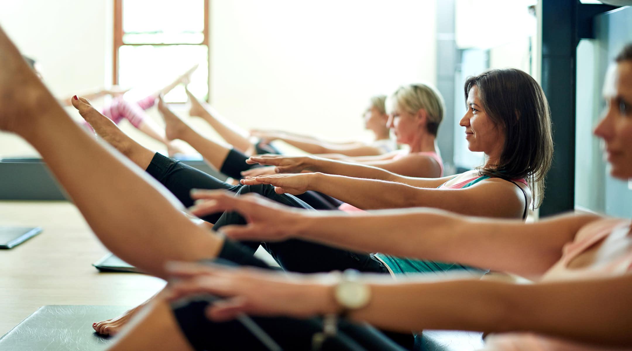 indoors pilates class