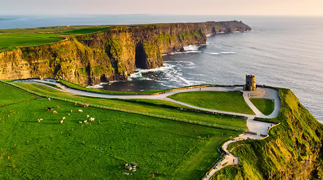 The Cliffs of Moher in Ireland landscape image.