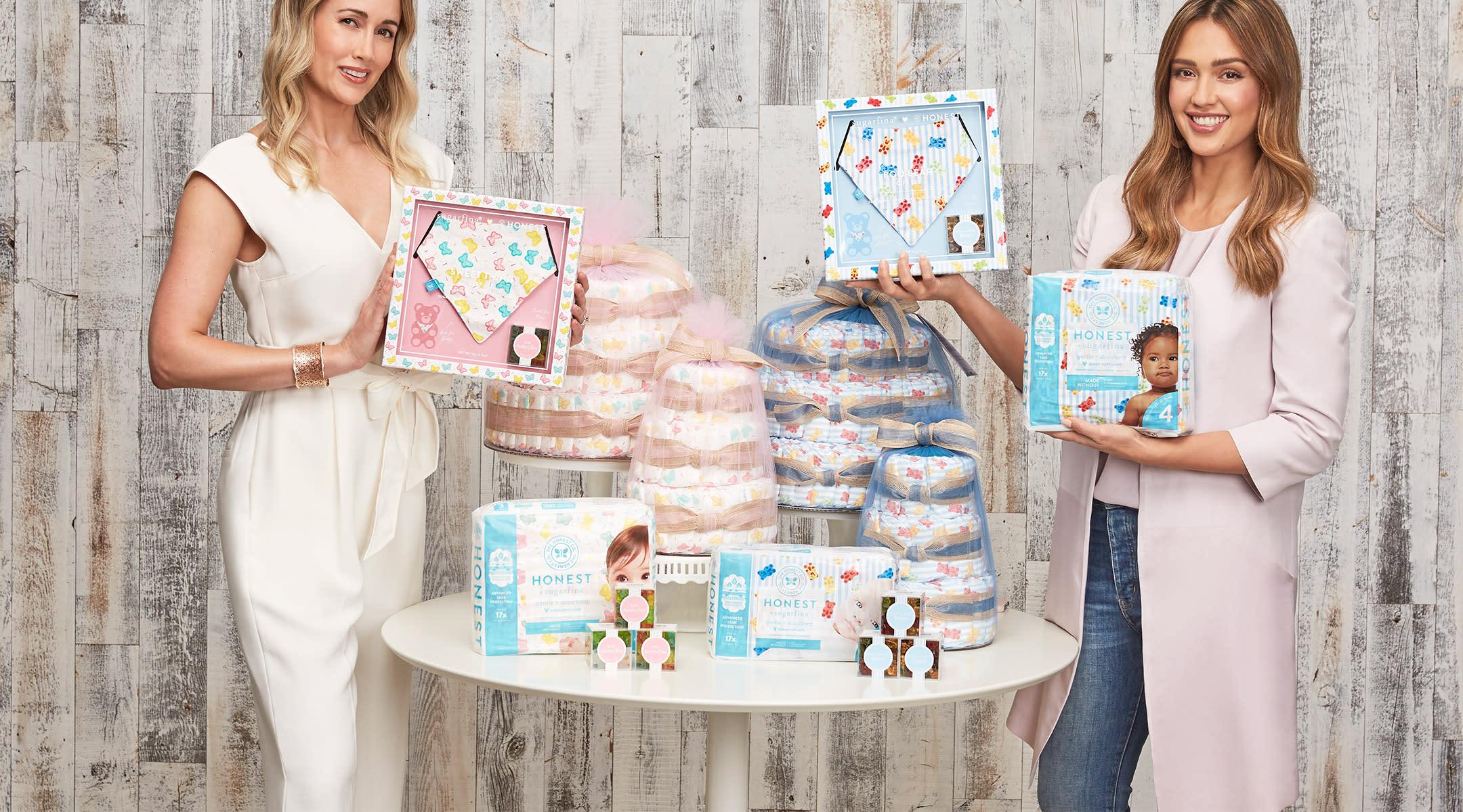 Jessica Alba Sugarfina Launch Baby Shower Collection