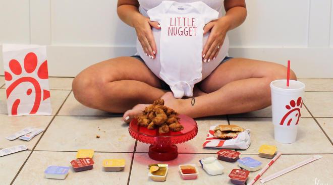 Chick-fil-A maternity shoot