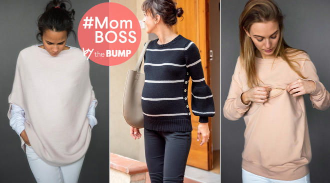 maternity and nursing friendly clothes from teat cosset.
