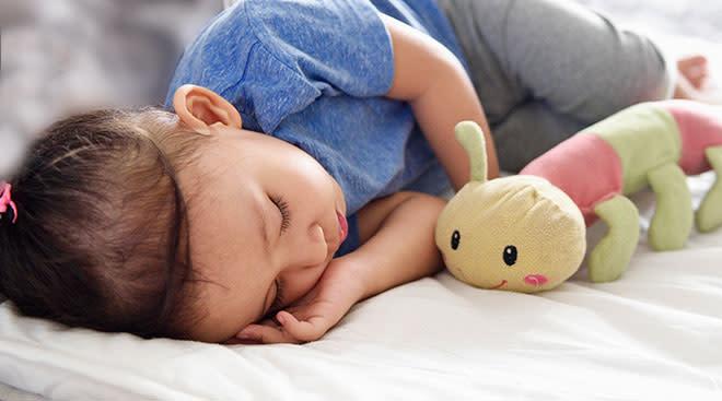 toddler soundly sleeping