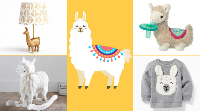 llama products and decor for baby