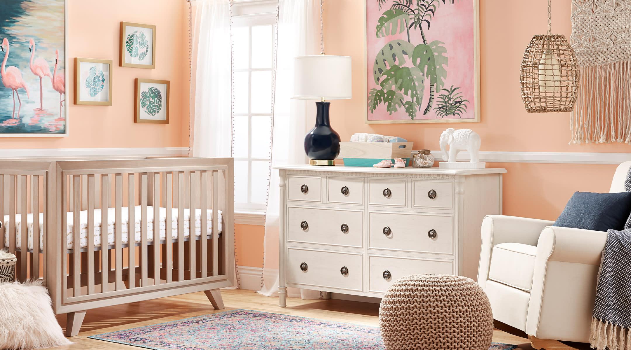 bohemian eclectic baby nursery