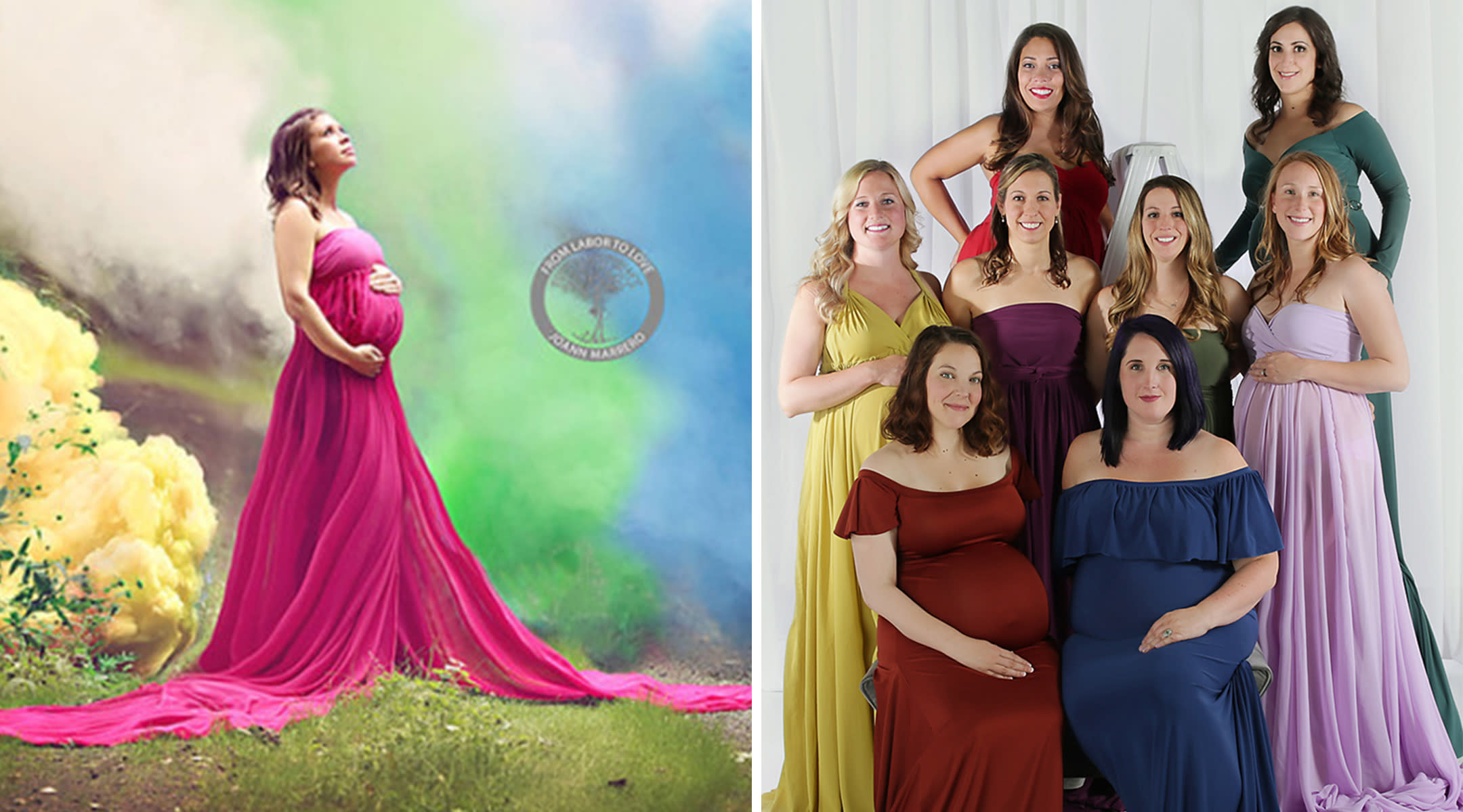 Photographer Hosts Second Rainbow Baby Maternity Shoot