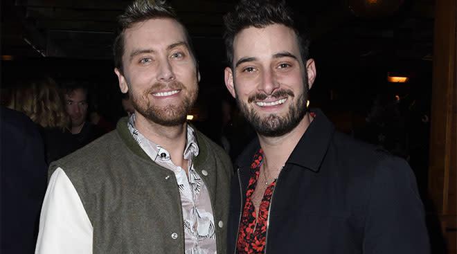 Lance Bass with husband Michael Turchin