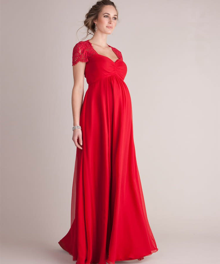 1 Seraphine Formal Maternity Dress Scarlet