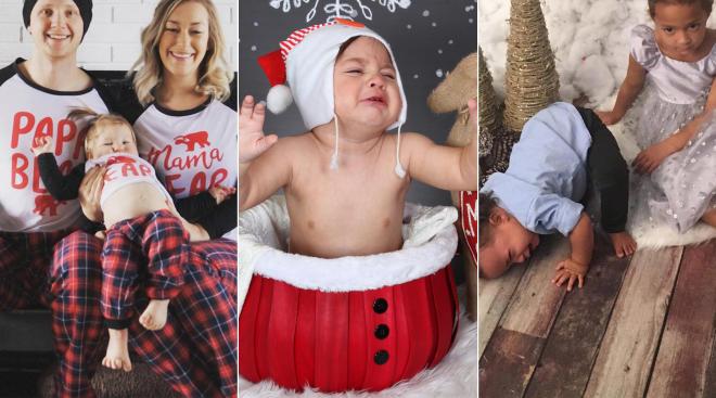 funny holiday family photo fails