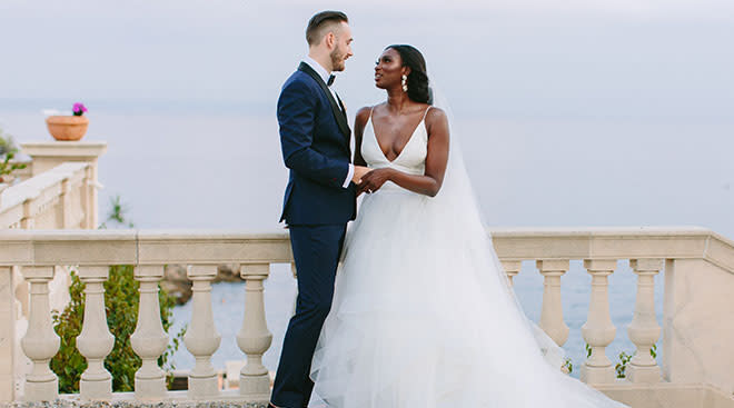 The writer, Aminata Cisse with her husband on their wedding day.