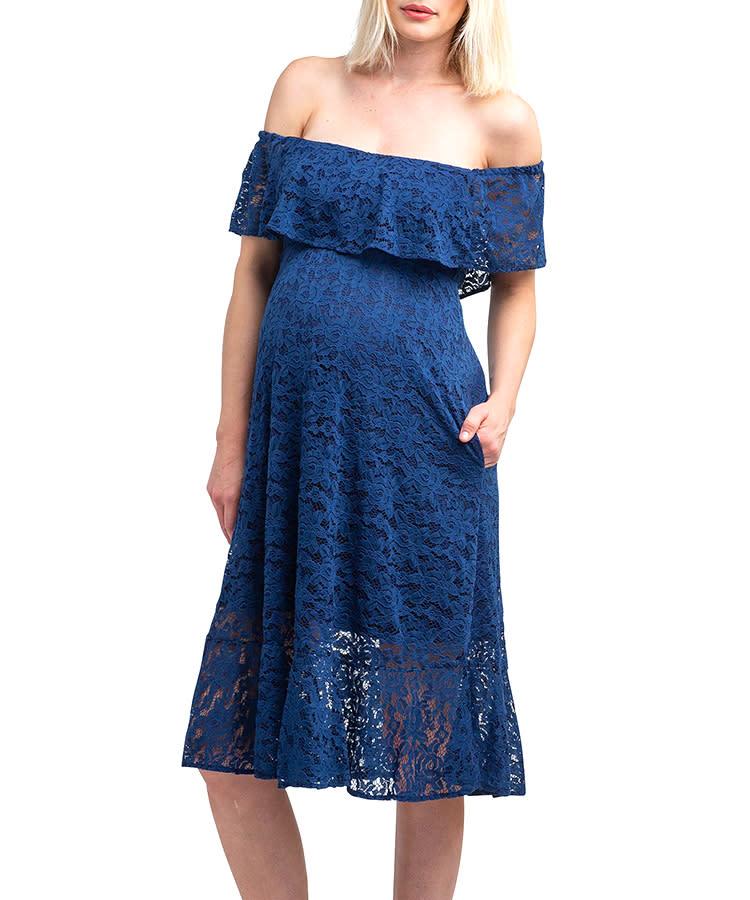 847ba71958ae9 summer-maternity-dress-nom-off-shoulder-formal-lace