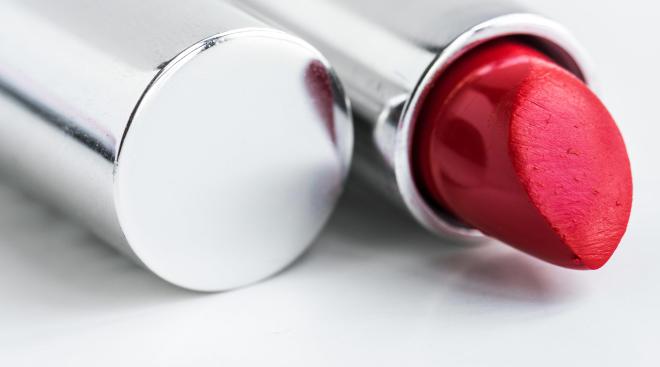 hidden danger house close up of red lipstick