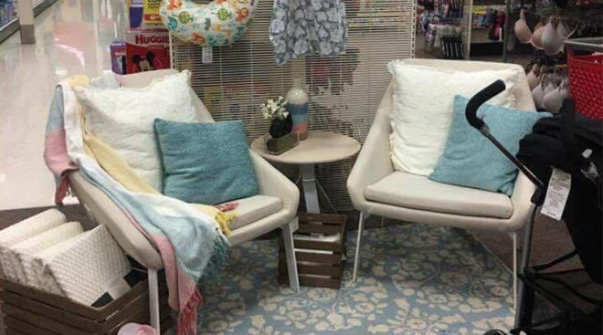 target nursing station for moms while they shop