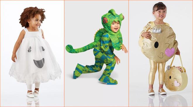 toddler halloween costumes, chameleon, glitter emoji