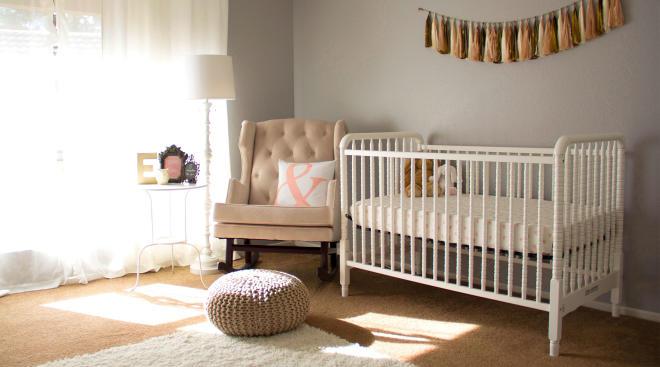 simple, modern baby nursery