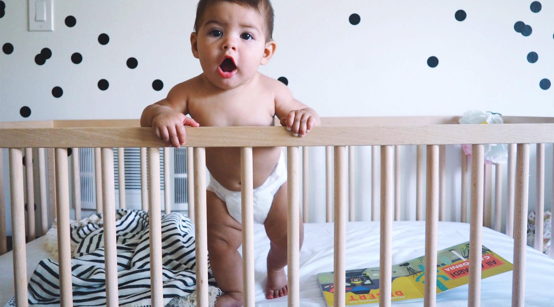 baby awake at night in crib