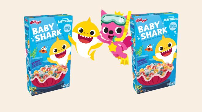 baby shark releases breakfast cereal