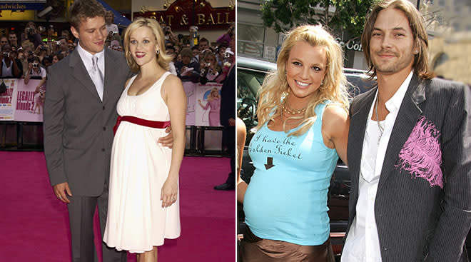 britney spears and reese witherspoon pregnant in the 2000s