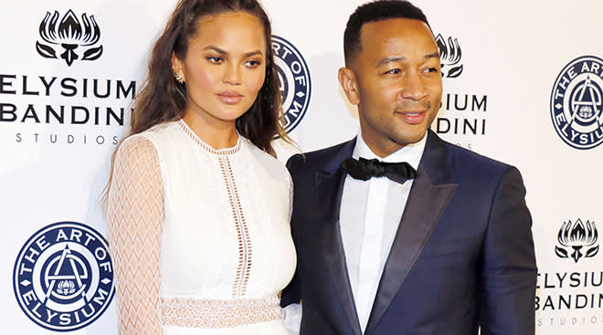 celebrities chrissy teigen and john legend
