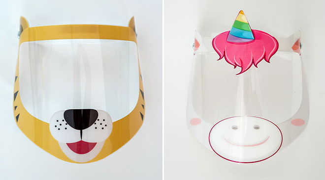 vision visor launches face shields for kids