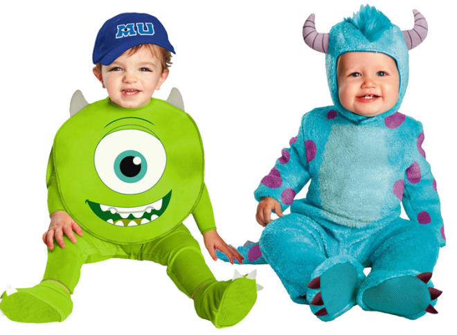 twin halloween costumes monsters inc - Monsters Inc Baby Halloween Costumes