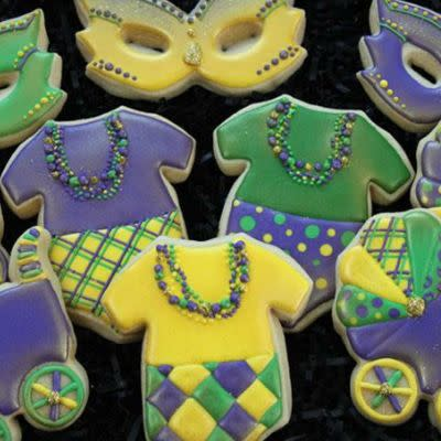 mardi gras baby shower cookies q 75