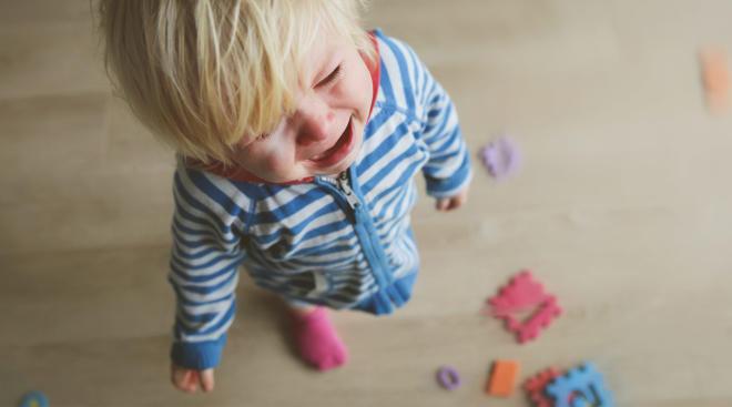 toddler having a tantrum