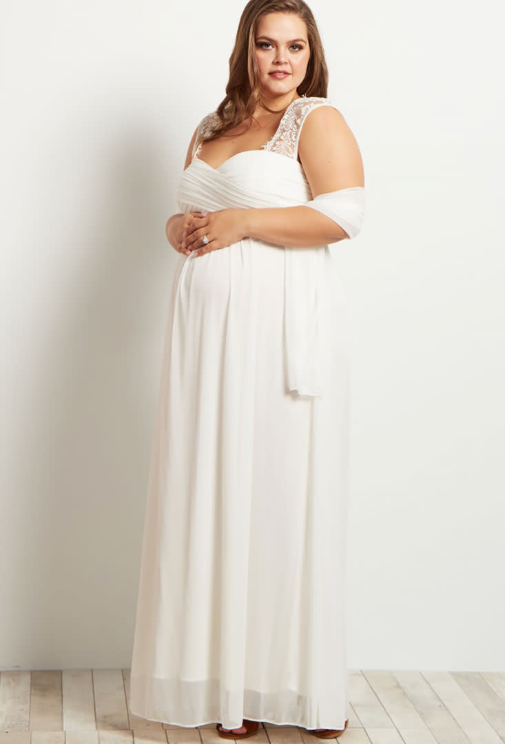 23 maternity wedding dresses for Plus size maternity wedding dresses