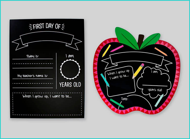 Heart First Day Printable Customized First Day of School Sign First Day Photo Prop 1st Day Back To School Sign School Chalkboard Sign