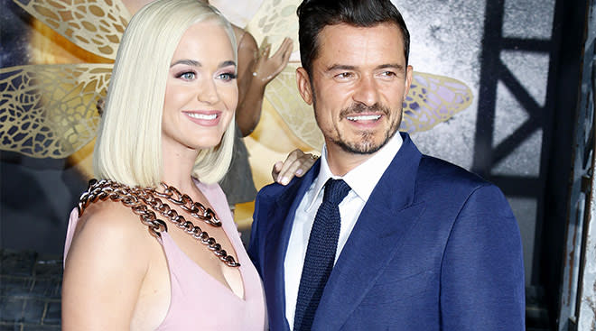 Katy Perry with her partner Orlando Bloom