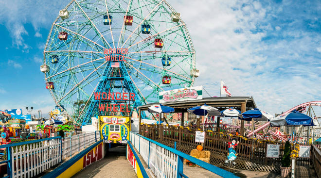 coney island amusement park, wonder wheel