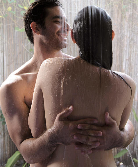 Showering with your husband
