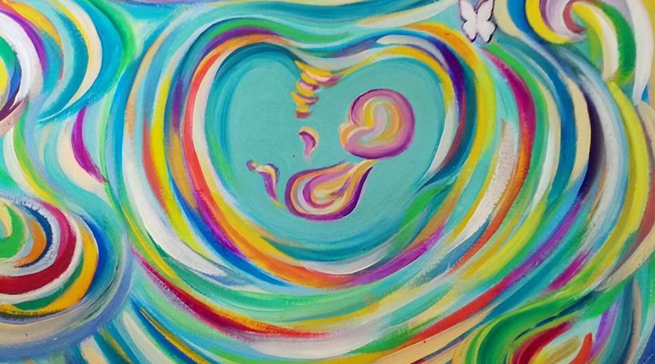 Rainbow ultrasound art