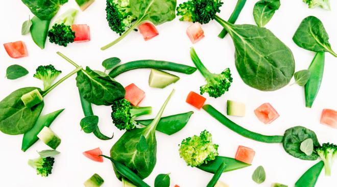 healthy food ingredients, vegetables and fruit