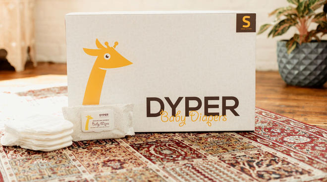 box of dyper compostable baby diapers