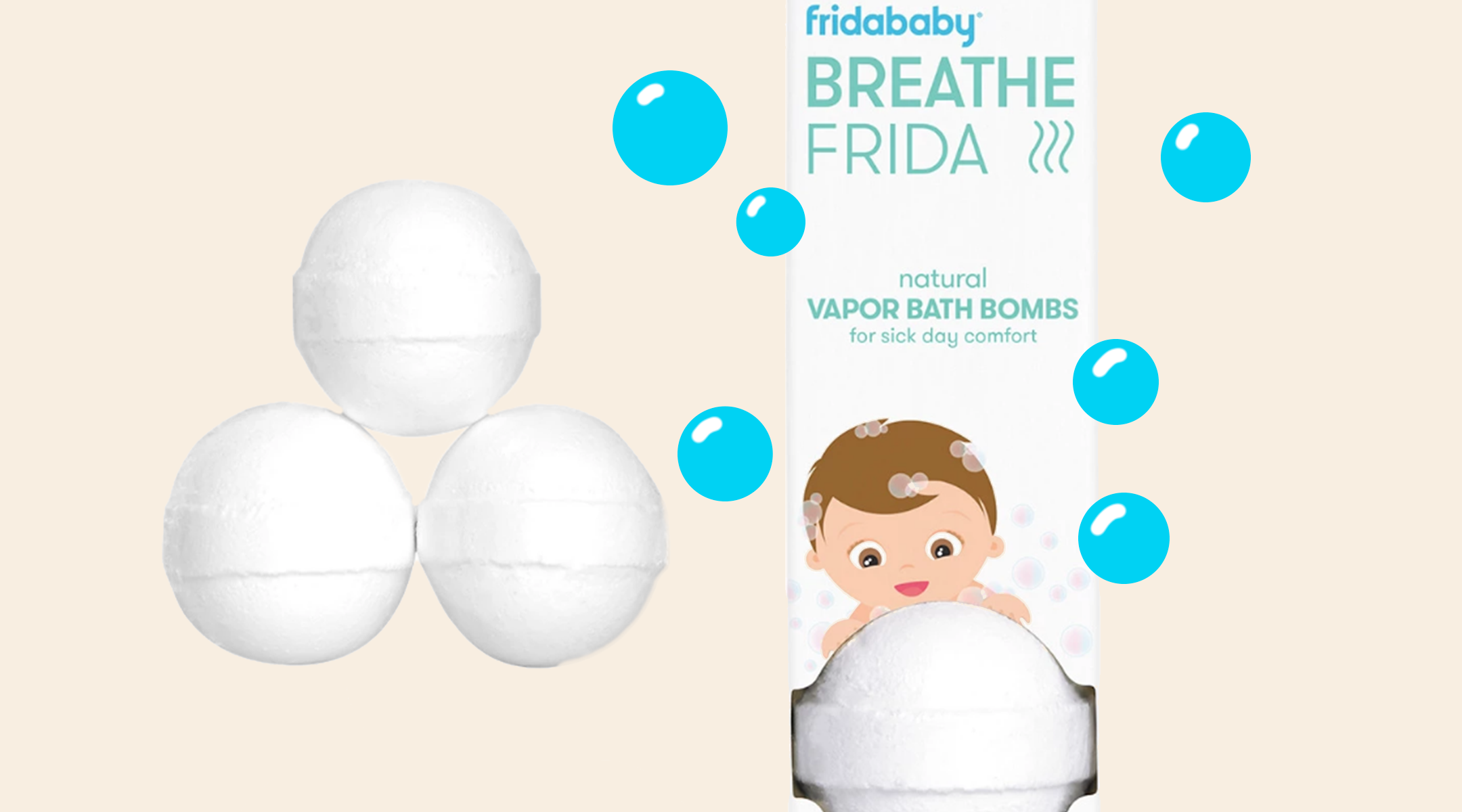 friday baby bath bombs for colds