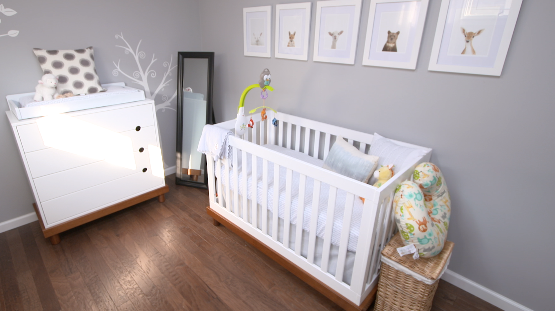Must see before and after nursery makeover video for Baby room decor ideas unisex