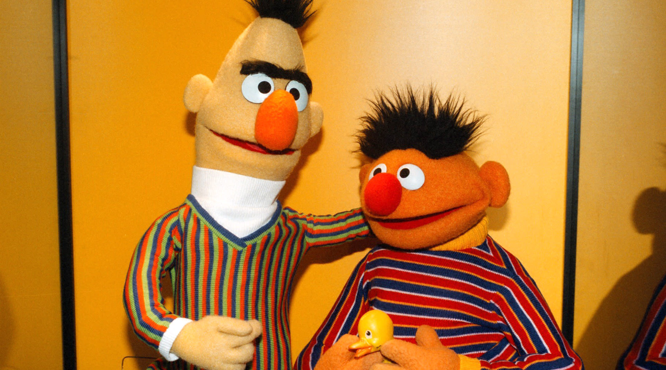 bert and ernie from sesame street which is now proven to improve children's educational level